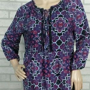 C Est  1946 (Cato) Md Boho Tunic Purple NWT